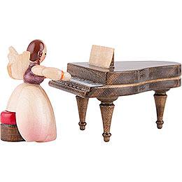 Schaarschmidt Engel mit Klavier, 2-teilig - 4 cm