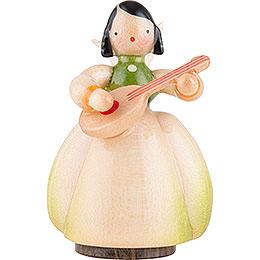 Schaarschmidt Engel mit Mandoline - 4 cm