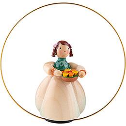 Schaarschmidt Flower Child with Flower Bowl in Ring - 6 cm / 2.4 inch