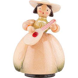 Schaarschmidt Hat Lady with Mandoline - 4 cm / 1.6 inch