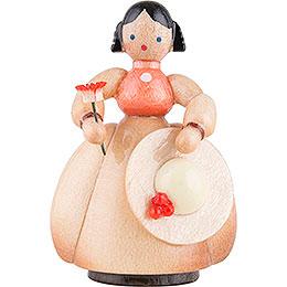 Schaarschmidt Hut-Dame mit Blume - 4 cm