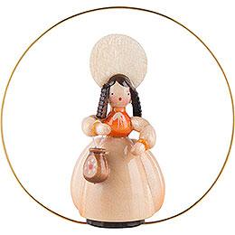 Schaarschmidt Hut-Dame mit Tasche im Ring - 6 cm