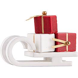 Schlitten mit Geschenken, weiß - Edition Flade & Friends - 2,5 cm