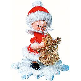 Schneeflöckchen als Weihnachtsmann - 5 cm