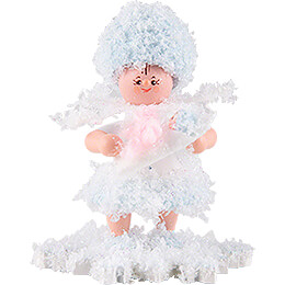 Schneeflöckchen mit Baby Mädchen - 5 cm