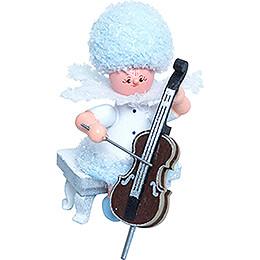 Schneeflöckchen mit Cello - 5 cm