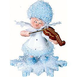 Schneeflöckchen mit Geige - 5 cm