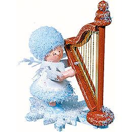 Schneeflöckchen mit Harfe - 5 cm
