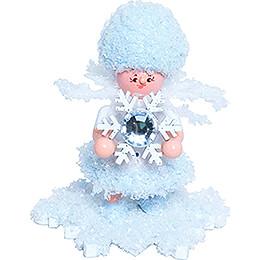 Schneeflöckchen mit Schneekristall - 5 cm