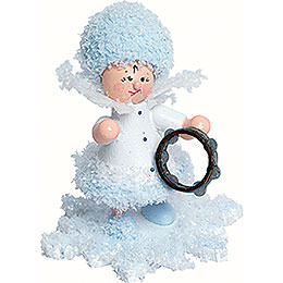 Schneeflöckchen mit Tamburin - 5 cm