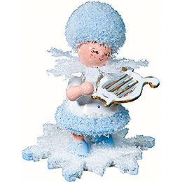 Schneeflöckchen mit kleiner Harfe - 5 cm