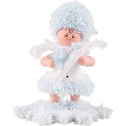 Schneeflöckchen mit Baby Junge - 5 cm