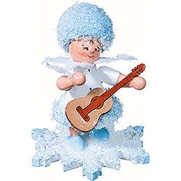Schneeflöckchen mit Gitarre - 5 cm