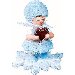 Schneeflöckchen mit Lebkuchenherz- 5 cm