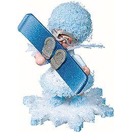 Schneeflöckchen mit Snowboard - 5 cm