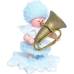 Schneeflöckchen mit Tuba - 5 cm