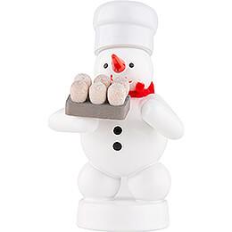 Schneemann Bäcker mit Eier - 8 cm