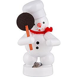 Schneemann Bäcker mit Maus - 8 cm