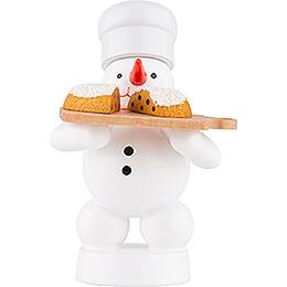 Schneemann Bäcker mit Stollen - 8 cm