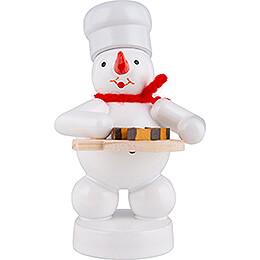 Schneemann Bäcker mit Nußecken - 8 cm