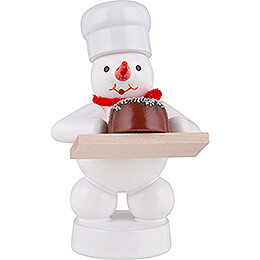 Schneemann Bäcker mit Torte - 8 cm