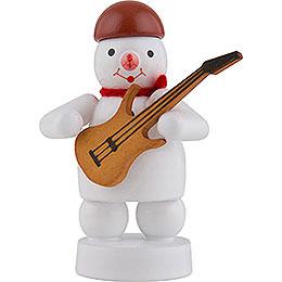 Schneemann Musikant mit E-Gitarre - 8 cm