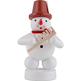 Schneemann Musikant mit Kamm - 8 cm
