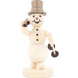Schneemann Ski auf Schulter - 13 cm