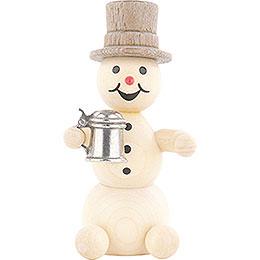 Schneemann mit Krug - 8 cm