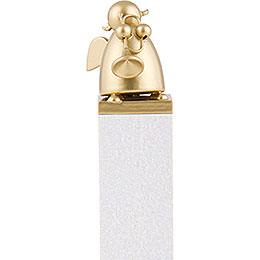 Schutzengel Gold mit Trompete - 8 cm