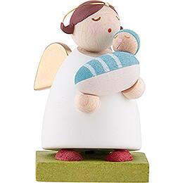 Schutzengel mit Baby - Junge - 3,5 cm