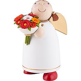 Schutzengel mit Blumenstrauß - 8 cm