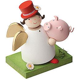 Schutzengel mit Glücksschwein - 3,5 cm
