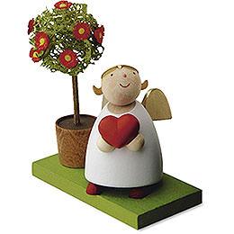Schutzengel mit Herz und Bäumchen - 3,5 cm