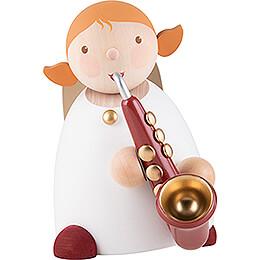 Schutzengel mit Saxophon, Rot, - 16 cm