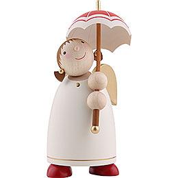 Schutzengel mit Schirm, Beige - 8 cm