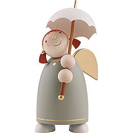Schutzengel mit Schirm, Grün - 8 cm