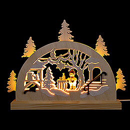 Schwibbogen Adventsmarkt - 23x15 cm