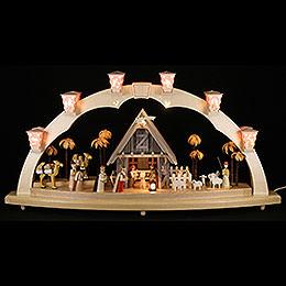 Schwibbogen Christi Geburt - 80x41 cm