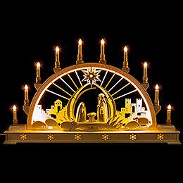 Schwibbogen Christi Geburt mit LED-Innenbeleuchtung - 78x45 cm
