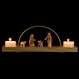 Schwibbogen Christi Geburt - natur - 24x12 cm