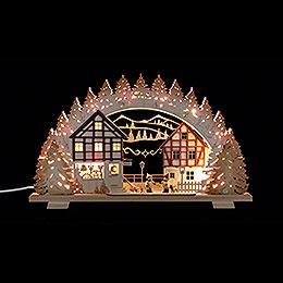 Schwibbogen 'Der kleine Holzwurm' - 53x31x4,5 cm