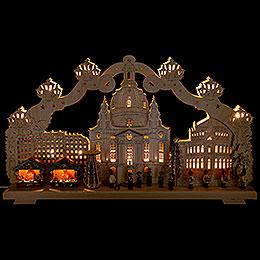 Schwibbogen Dresden Striezelmarkt - 70x40 cm