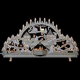 Schwibbogen Erzgebirgsbogen mit Figuren, Übergröße - 100x56x16 cm