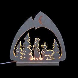 Schwibbogen LED-Leuchter Jäger - 30x28,5x4,5 cm