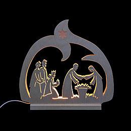 Schwibbogen LED-Leuchter Krippe - 30x28,5x4,5 cm