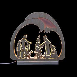 Schwibbogen Leuchter Weihnachtsmann - 30x28,5x4,5 cm