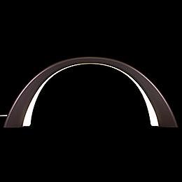 Schwibbogen Linde anthrazit, mit elektrischer Innenbeleuchtung - 55x23,5 cm