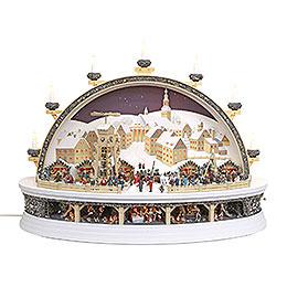 Schwibbogen Silbernes Schneeberg (limitierte Auflage) - 74x58x34 cm