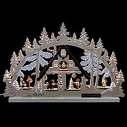 Schwibbogen Weihnachtshaus - 74x47x5,5 cm